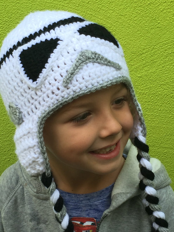 Star Wars Stormtrooper Hat Etsy Crochet Kids Hats Crochet Hats Crochet Hats For Boys