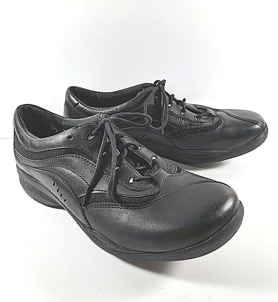 Clarks inmotion comfort walking shoes black leather