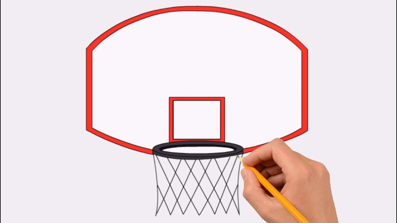How To Draw A Basketball Hoop Step By Step For Kids Coloring Page Drawing Learn Colors For Kids Youtube Basketball Net Basketball Hoop Learning Colors