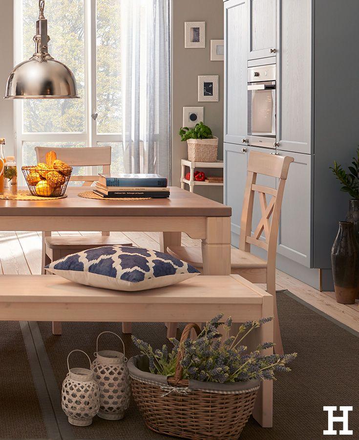 Ein gemütlicher Essplatz im Landhausstil. #küche #einrichtung #idee ...