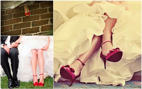 zapatos rojos vestido novia | La boda de mis sueños | Pinterest ...