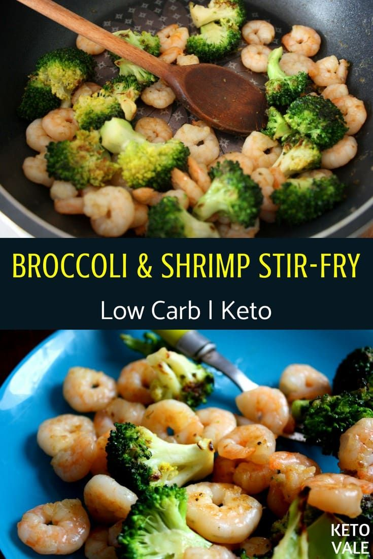 Keto Sauteed Shrimp and Broccoli in Butter Low Carb Stir-fry Recipe