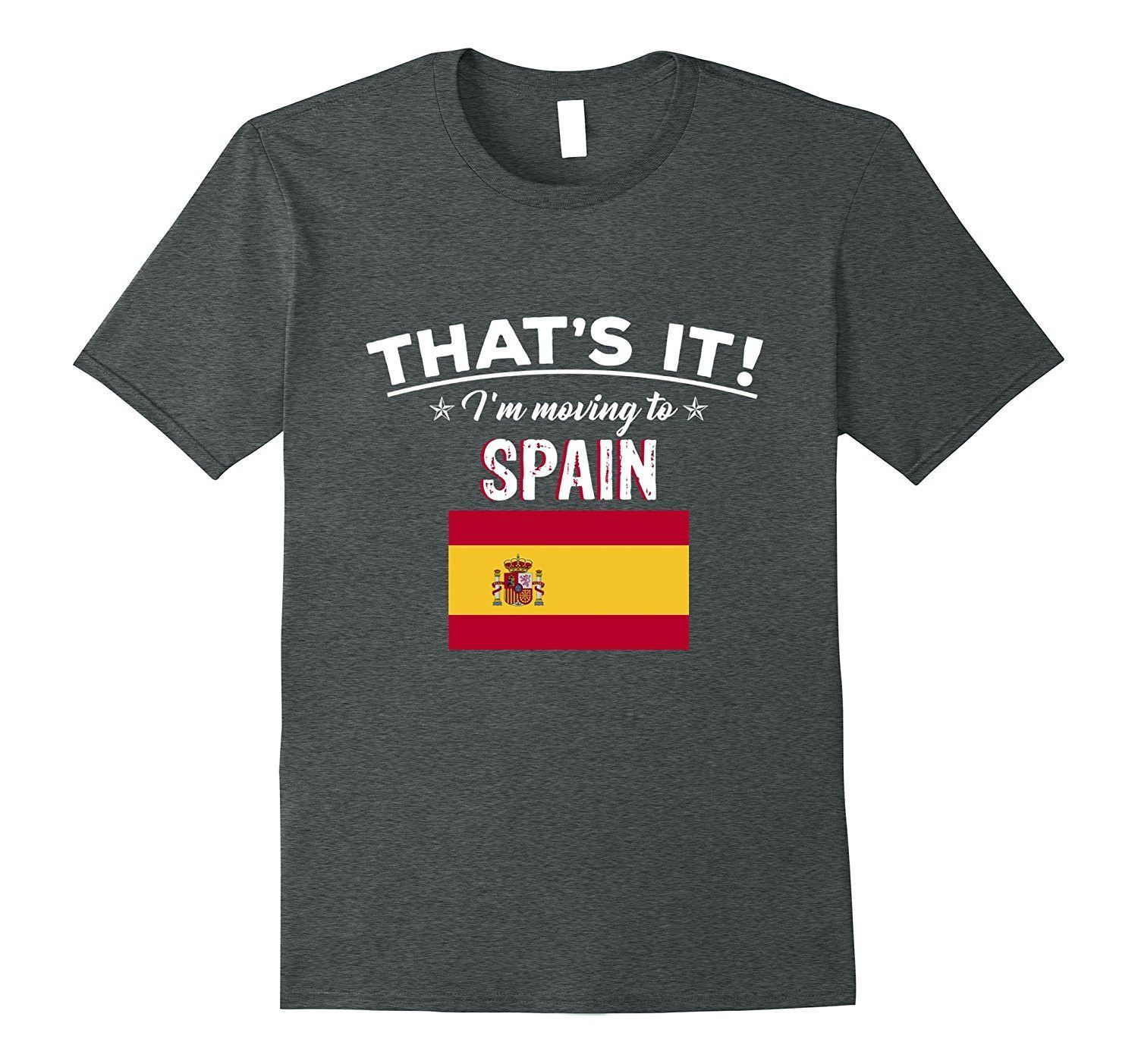 That's It I'm Moving to Spain Geography T-Shirt