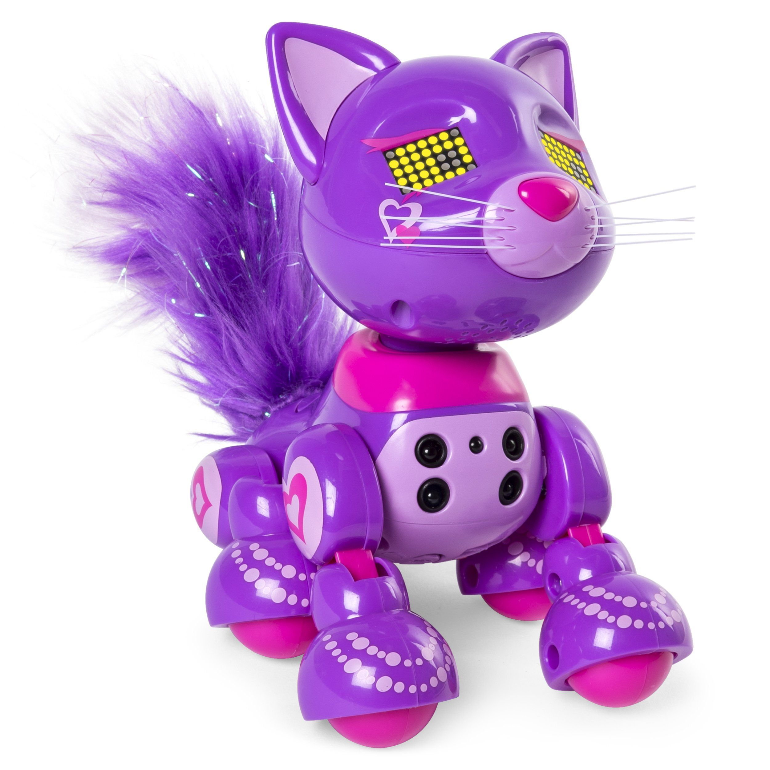 Amazon Com Zoomer Meowzies Posh Interactive Kitten With Lights Sounds And Sensors Toys Games Giftrya Robot Cat Toy Toys For Girls Cool Toys For Girls