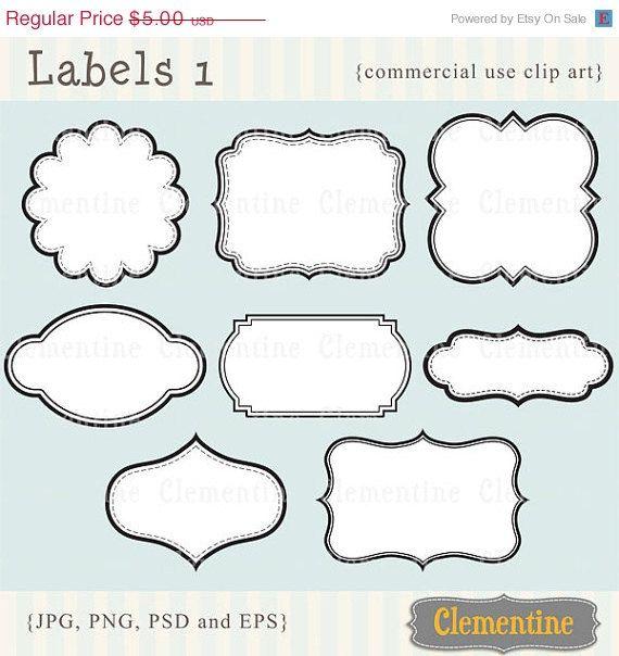 Printable labels clip art images, scrapbook clip art, royalty-free