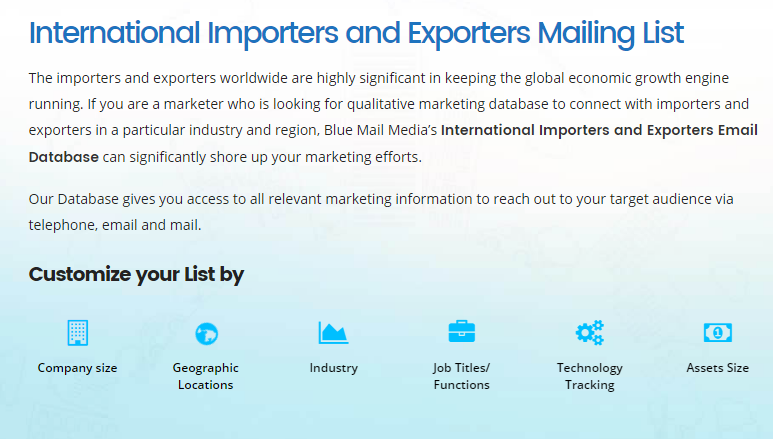 International Importers Exporters Email List and Mailing Lis