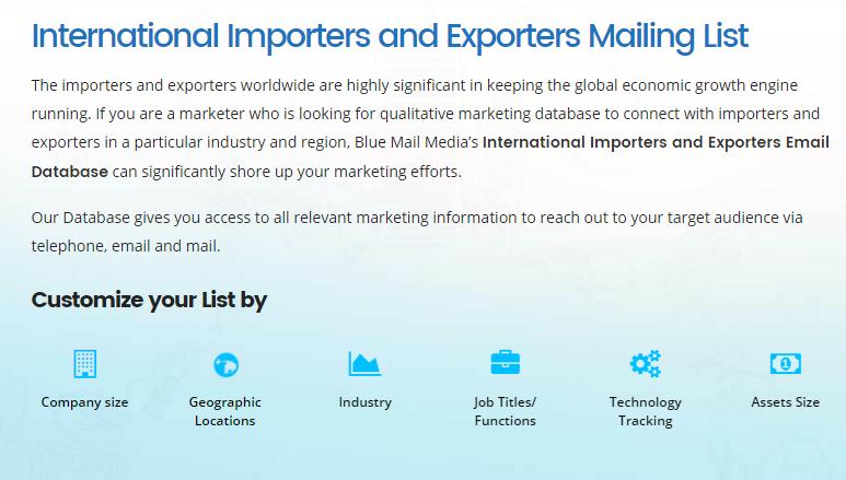 Importers Exporters Email List Importers Email Address List