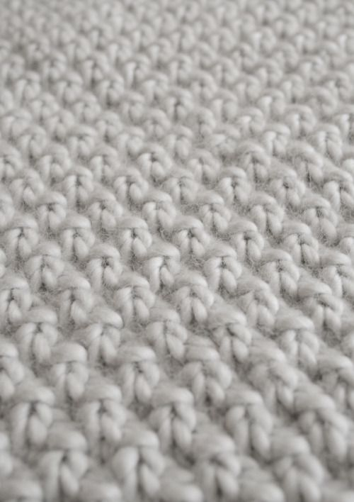 Knitting Undo Purl Stitch : Double Seed Stitch Blanket - Knitting Crochet Sewing Crafts Patterns and Idea...