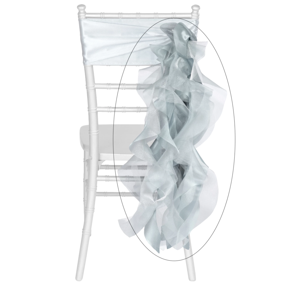 Curly Willow Chair Sash Dusty Blue Curly willow, Chair