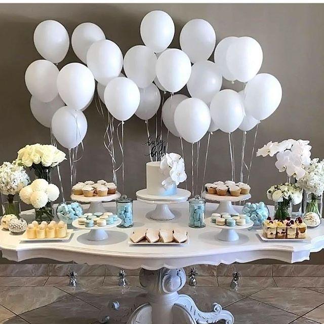 Boy Baptism Party Decor Dessert Table Christening Decorations