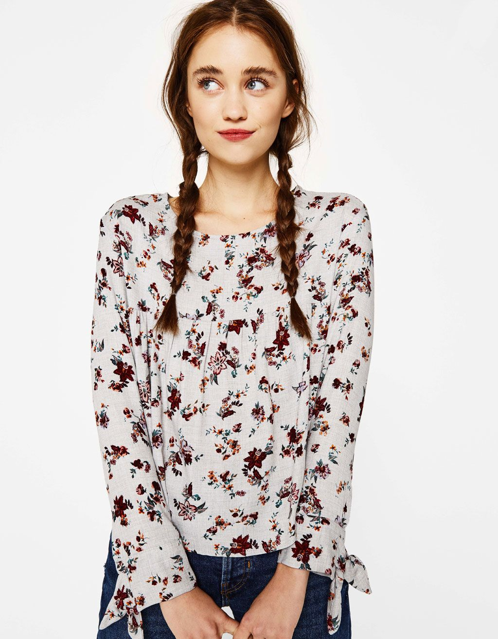 4dabc91020 Blouse with bows. Discover this and many more items in Bershka with ...
