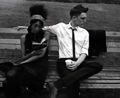 Simply black & white.