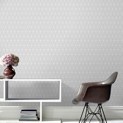 Superfresco Easy Grey Triangle Geometric Paste the Wall Wallpaper ...