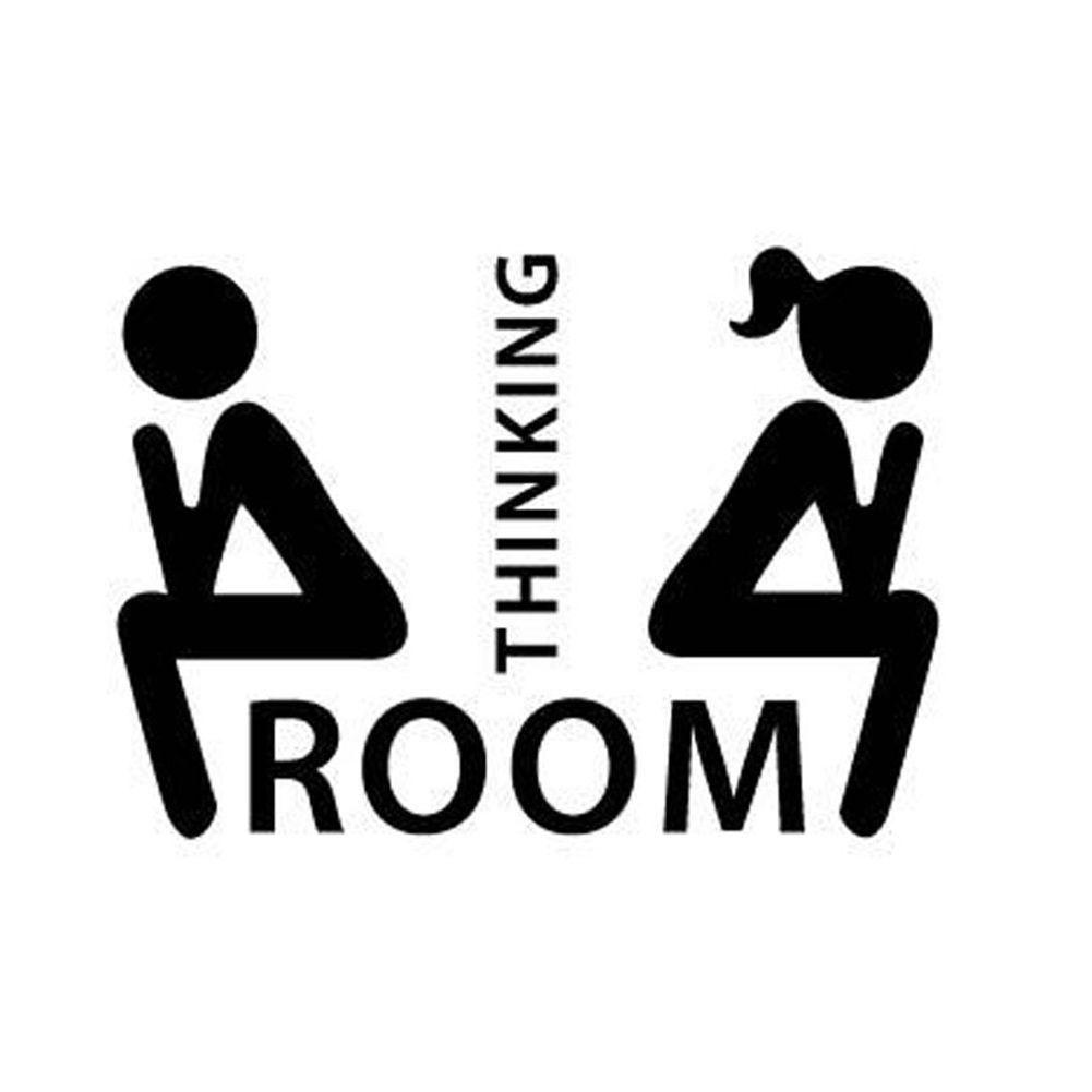Goedkope Verwijderbare Denken Kamer Tolite & WC Decoratie Stickers ...