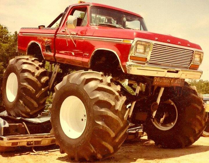 Monster Red Ford Truck Monster Trucks Cool Rides Other Stuff