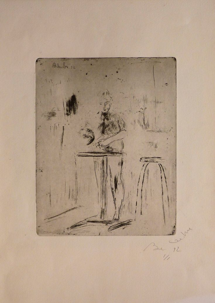 cooking in the kitchen engraving from copper plate 31x43 cm