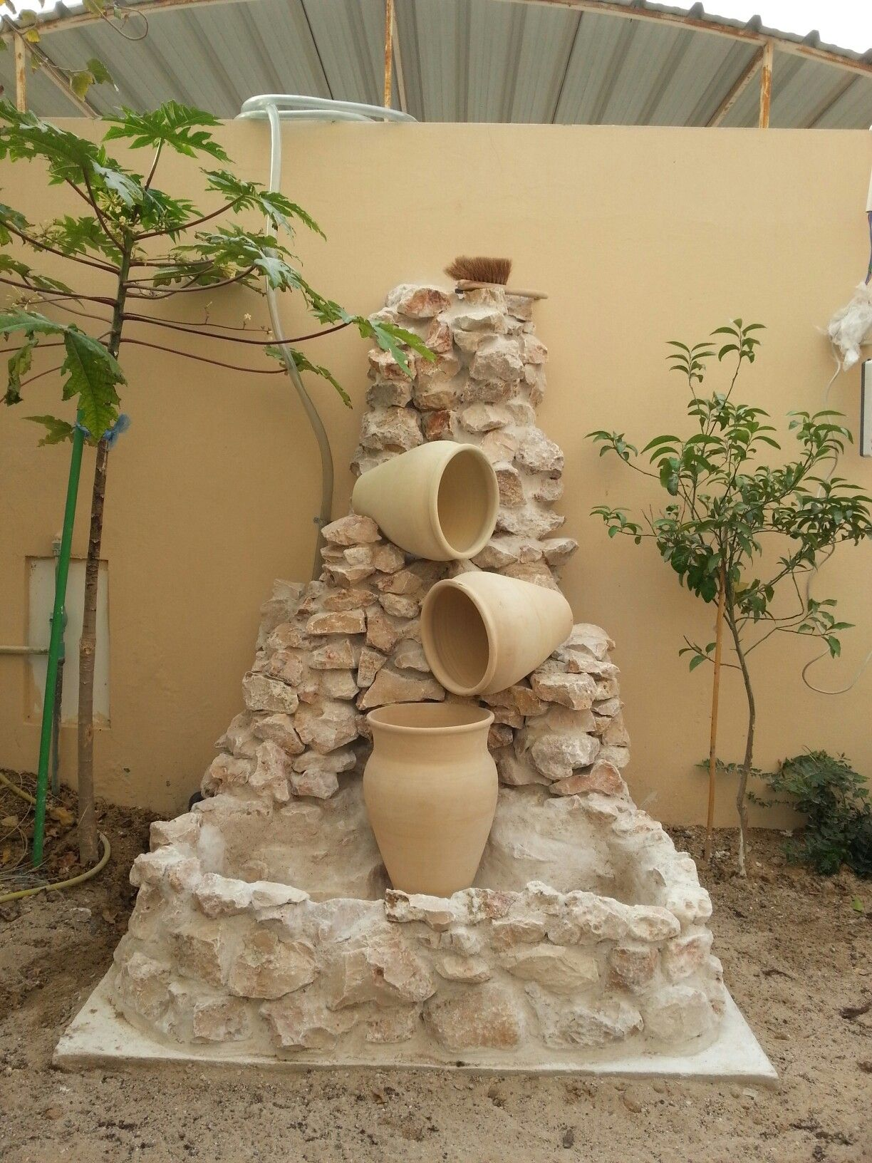 Urn Water Fountain Starting To Take Shape Water Fountain Doha