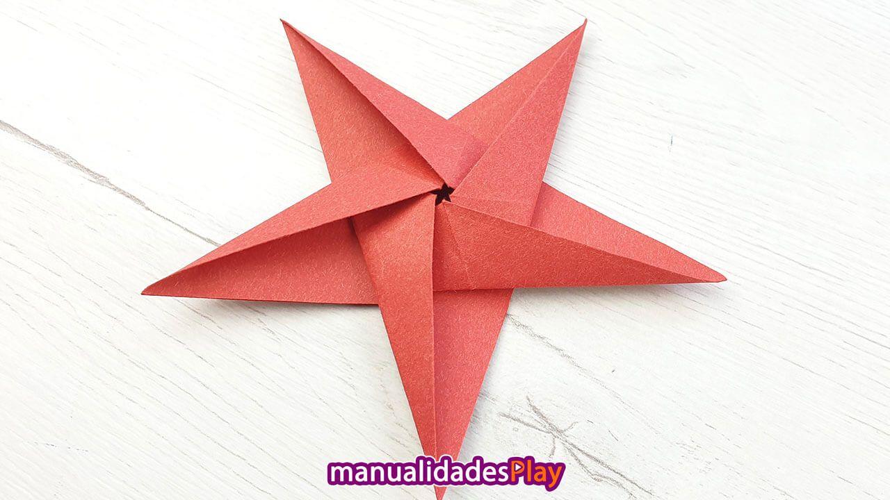 Como Hacer Estrellas De Papel Paso A Paso Origami Facil Estrellas De Origami Estrellas De Papel Origami Sencillo