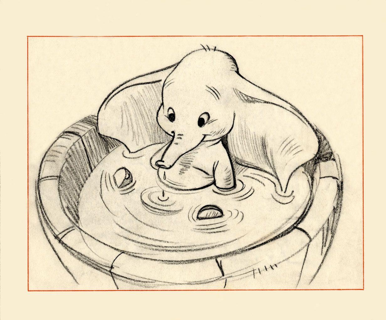 Bill Peet S Dumbo Avec Images Dessin Dumbo Dessins Disney