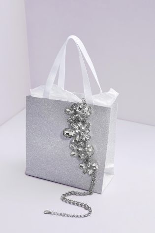 Glitter Gift Bag and Jewellery From Next. Treat the lady in your life to a gorgeous piece of jewellery from Next this Valentines Day.