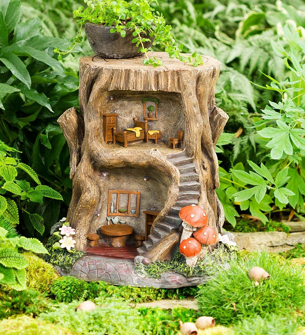 Two Story Lighted Fairy House In Fairies Dragons And Fantasy