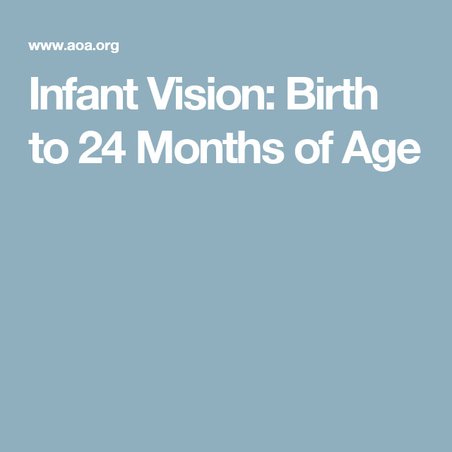 2839233a3 Infant Vision  Birth to 24 Months of Age