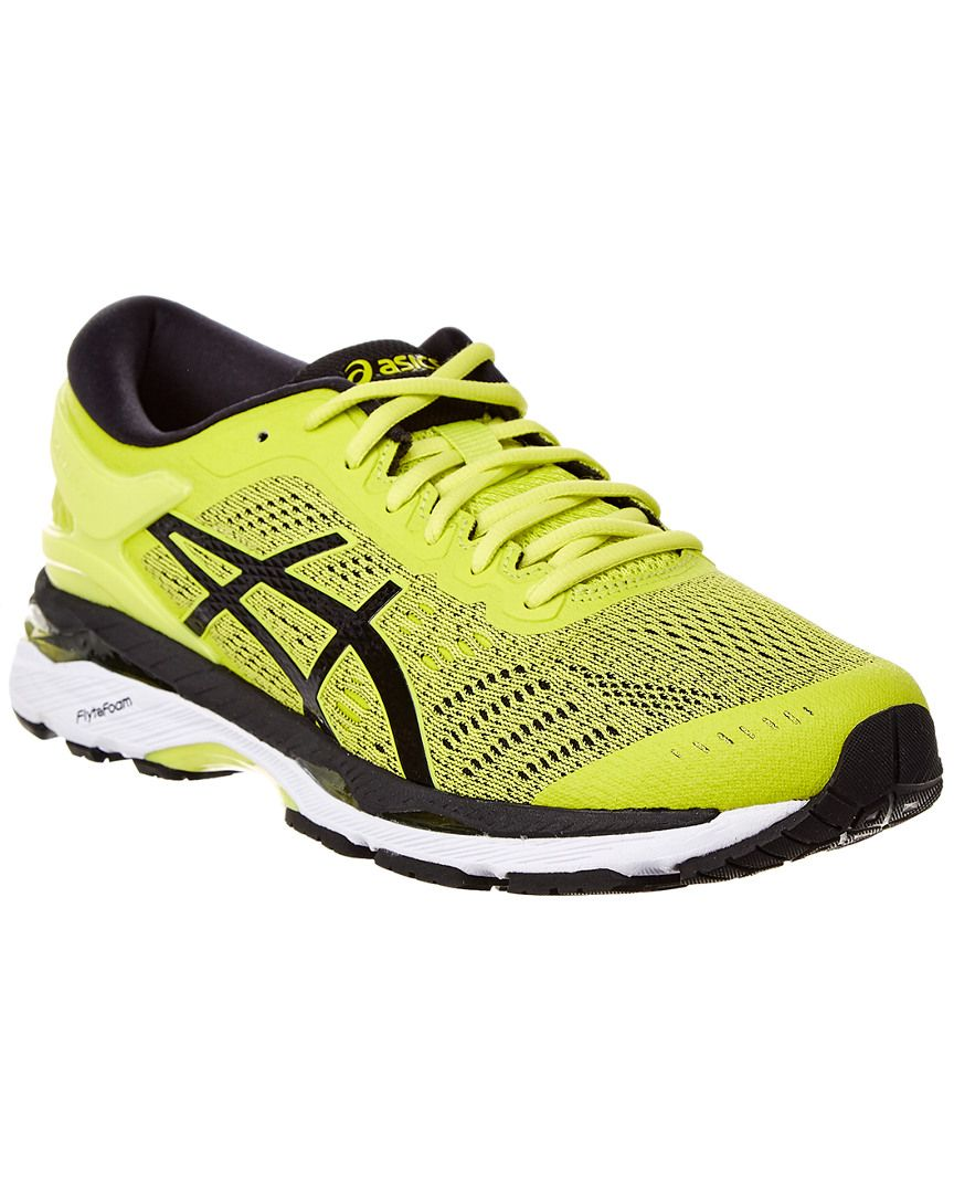 yellow asics running shoes