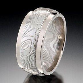 Damascus Steel Chris Ploof Designs Designer Wedding Bands