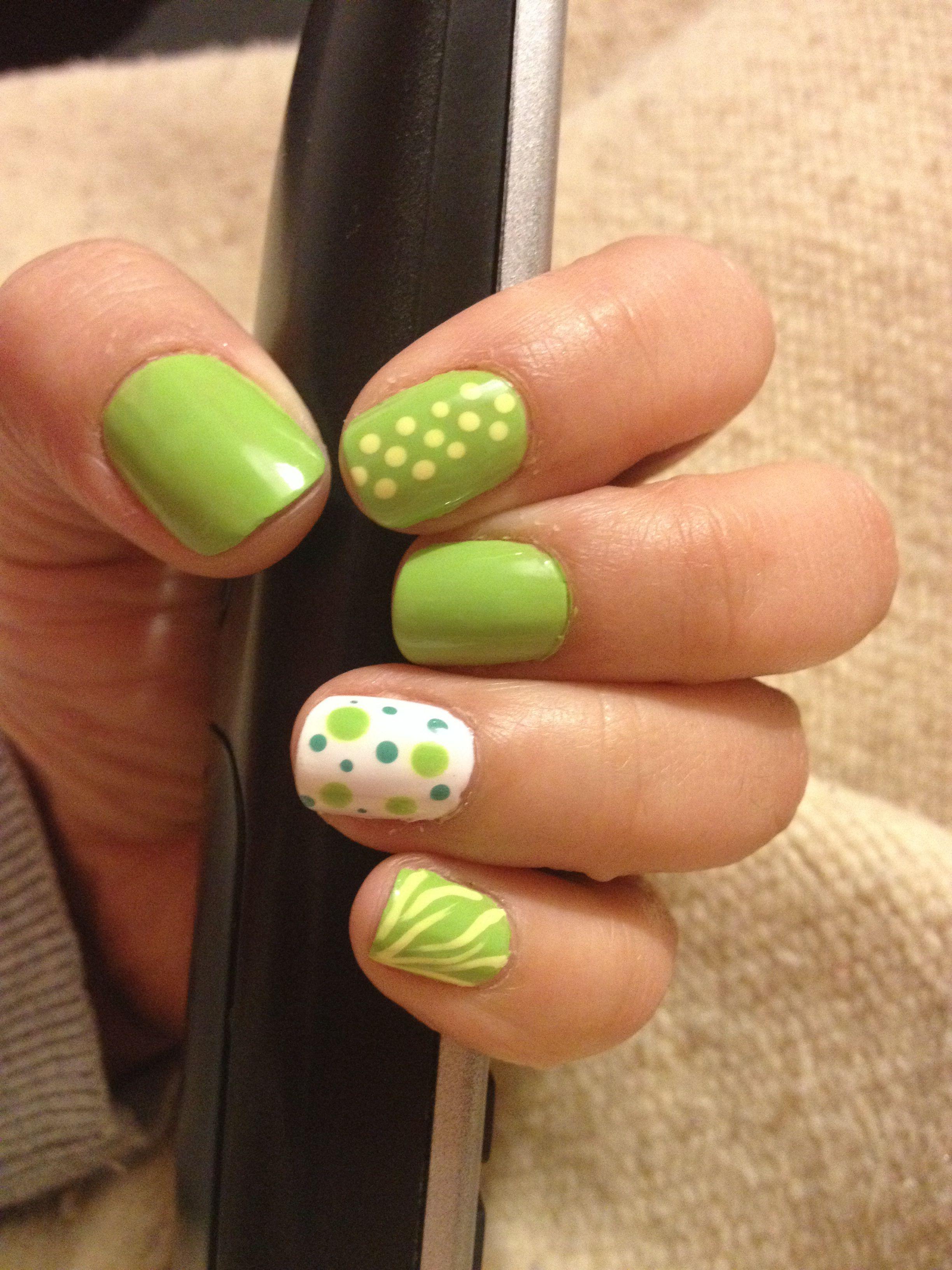 Verde limón! | Uñas | Pinterest | Limon, Verde y Diseños de uñas