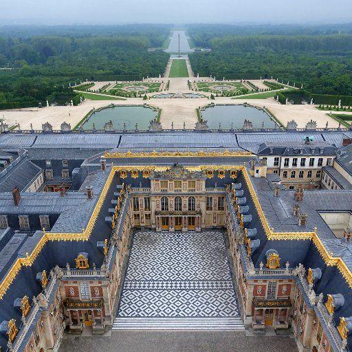 Vue Aerienne Chateau De Versailles Palace Of Versailles Chateau
