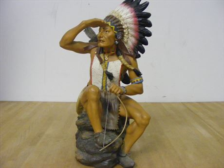 Content/listingImages/20131024/a844e927-0042-44c8-8257-d4e5e0e184b2_fullsize.jpg  Decorative 16x8 Indian Lookout on a rock with bow and arrow. Please visit www.bidsbyzip.com to bid and win this item! Bidding starts at.99!!