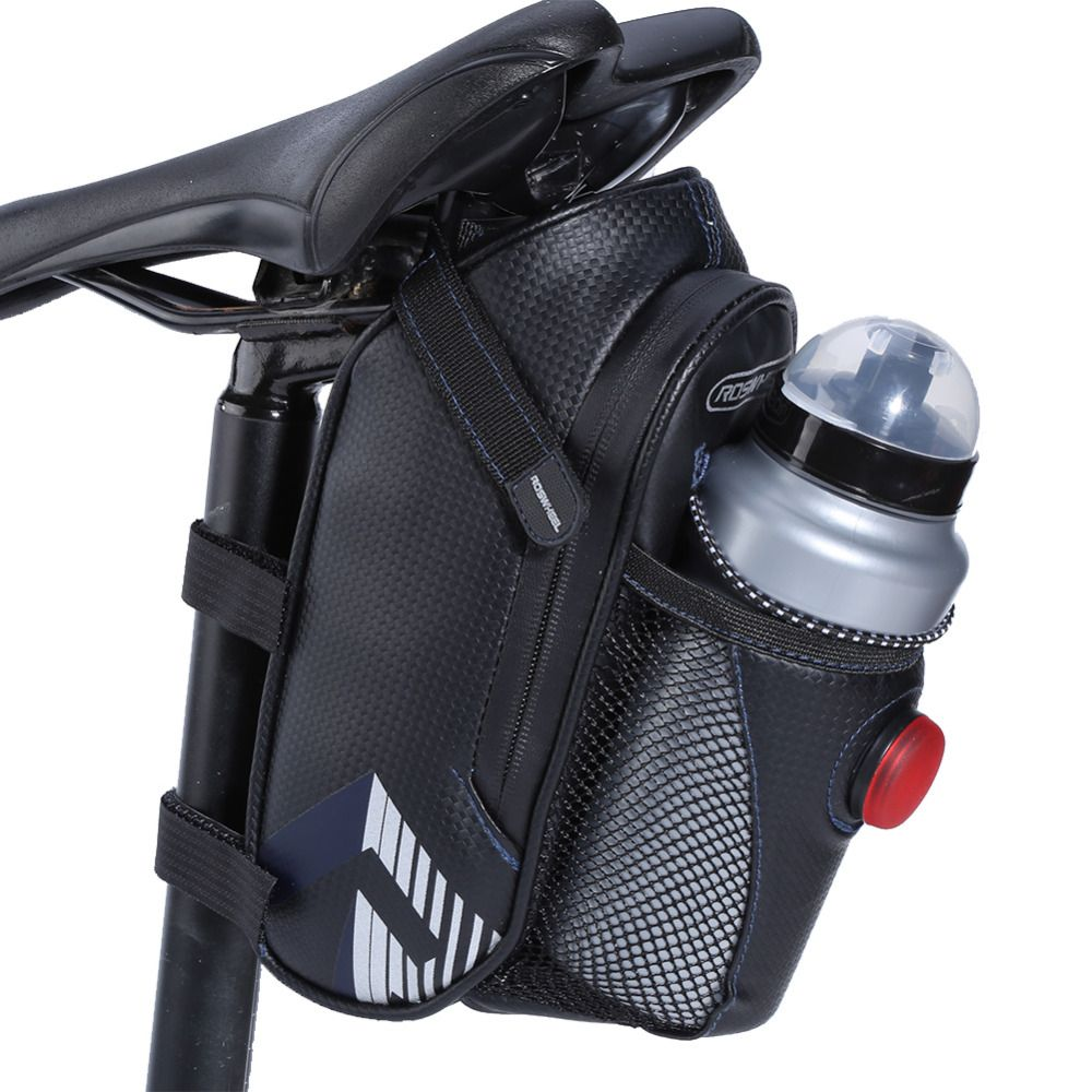 Roswheel Waterproof Bicycle Saddle Bag With Water Bottle Hold