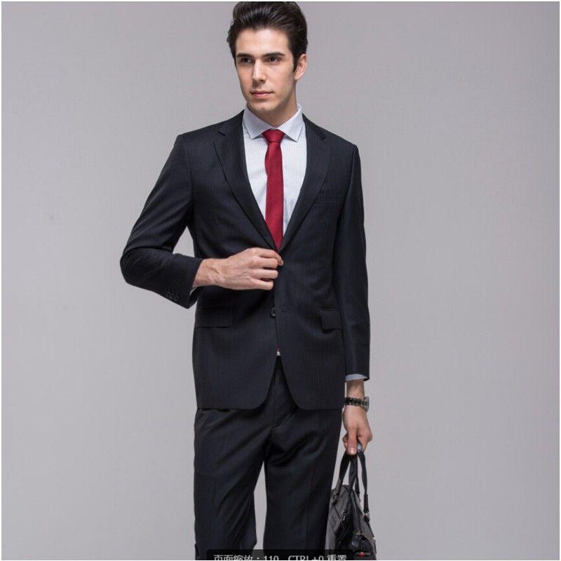 Click to Buy << New Design Custom Made Mature Men\'s Suits Wedding ...