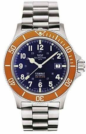 Glycine Watch Combat SUB Automatic #bezel-fixed #bracelet