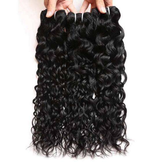 Mink Hair 3 Bundles Water Wave Wet And Wavy Brazilian Hair Weft 8a