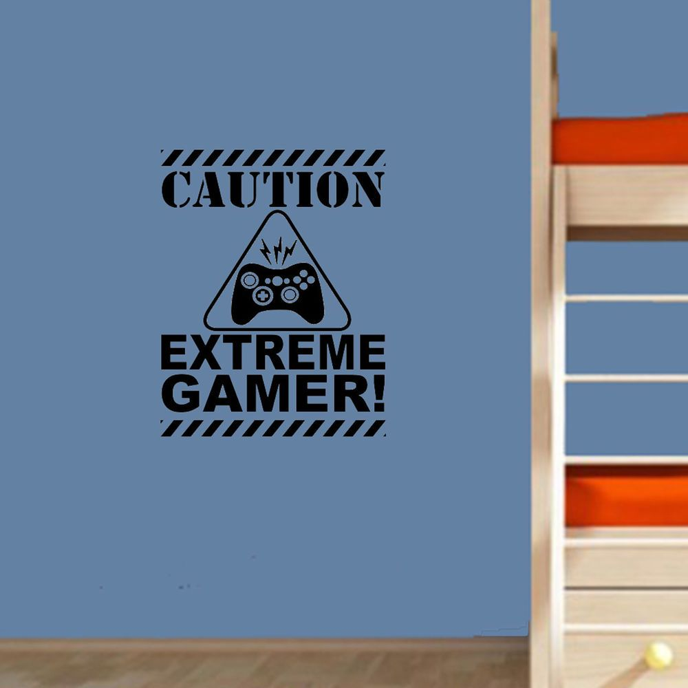 Gaming quote extreme gamer decal door wall art sticker boys room xbox fortnite fortnite fortnitebattleroyale game