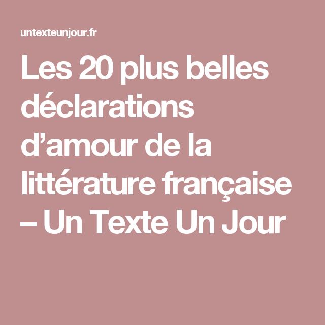Les 20 Plus Belles Déclarations Damour De La Littérature