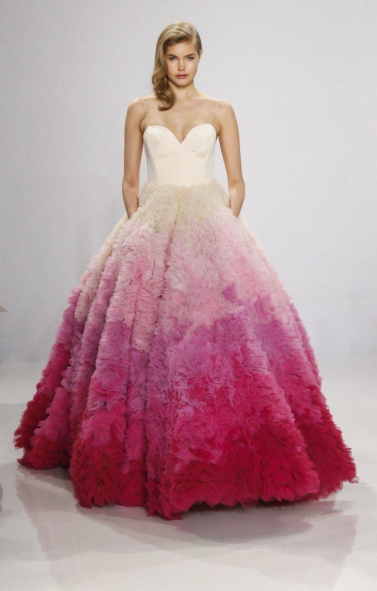 There was an audible gasp when this ombre ballgown went down the ...