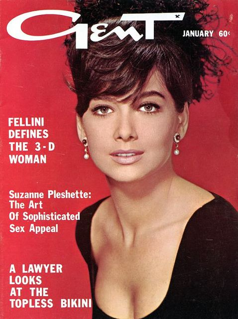 Gent Magazine 1965 Suzanne Pleshette Cover by Pin-up Magazines, via Flickr