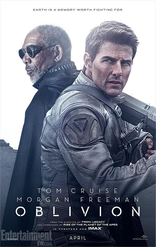 Tom Cruise Morgan Freeman Face Oblivion In New Posters Oblivion Movie Tom Cruise Movies Tom Cruise