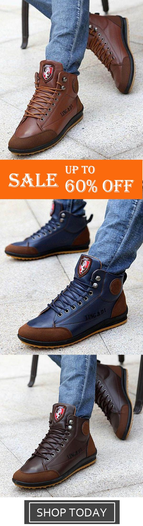 Comfy Casual High Top Sneakers Ankle Boots Lace Up Shoes #shoeboots