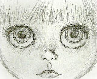 Face sketch. #dollfacepainting