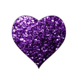 Beautiful Dark Purple Glitter Sparkles Heart Sticker Zazzle Com In 2021 Purple Glitter Purple Sparkle Purple Love