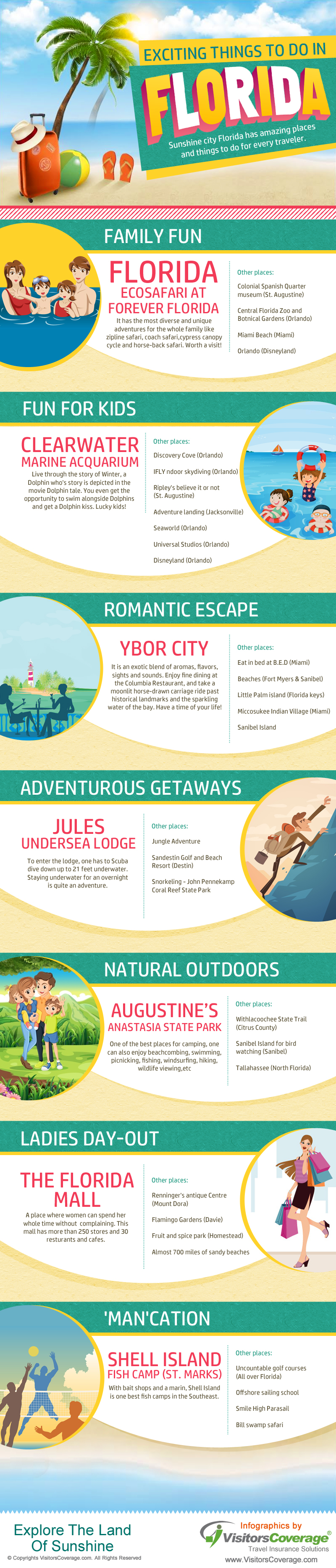 Exciting Things To Do In Florida - Do you fancy an infographic? There are a lot of them online, but if you want your own please visit http://www.linfografico.com/prezzi/ Online girano molte infografiche, se ne vuoi realizzare una tutta tua visita http://www.linfografico.com/prezzi/