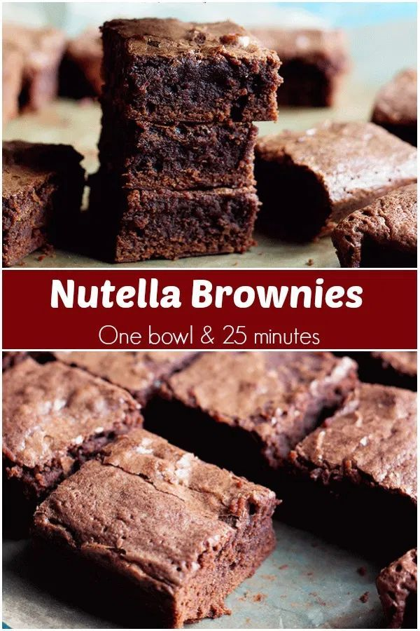 Rich Nutella Brownies Are Made With Just A Few Ingredients And Are