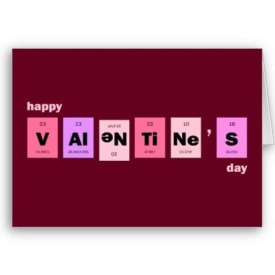 Geek Nerd Science Happy Valentines Day Card  Holidays Cards and
