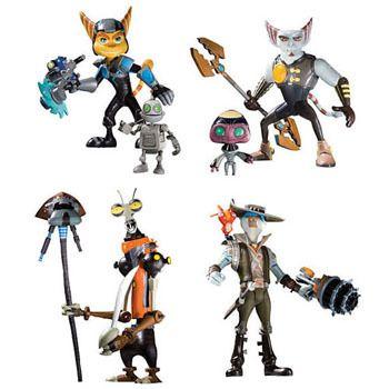 Ratchet Clank Series 2 Action Figure Set Action Figures