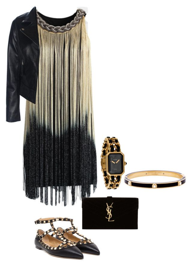 """""""Untitled #726"""" by ale99850 ❤ liked on Polyvore featuring Chicwish, Valentino, Yves Saint Laurent, Henri Bendel and Chanel"""