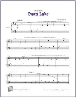 Swan Lake (Tchaikovsky) for Easy Piano - http://makingmusicfun.net ...