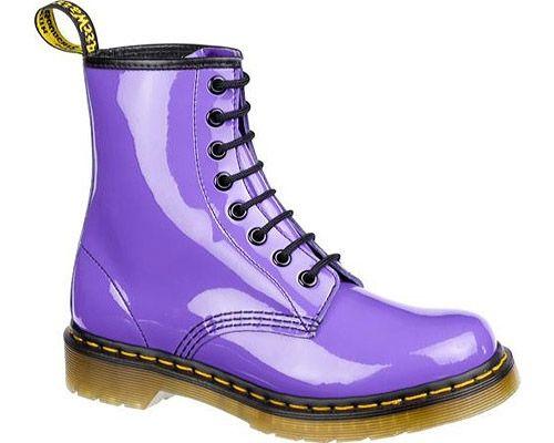 Dr Martens 1460 8 Eye Boot Patent Lamper Pastel Colors Nitrolicious Com Purple Boots Boots Dr Martens Boots